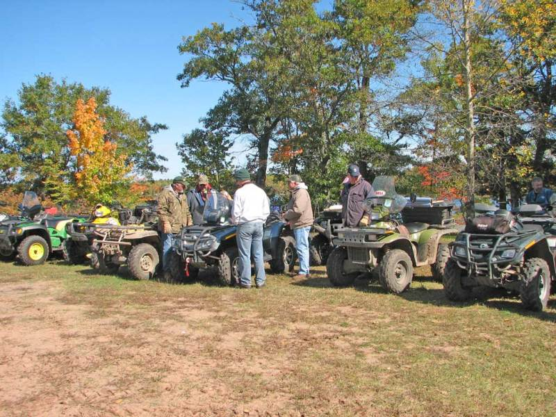 ATV's all lined up
